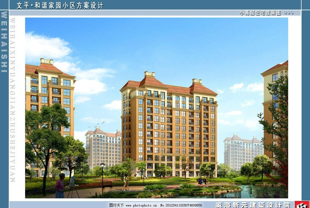 小高层住宅外立面效果图图片