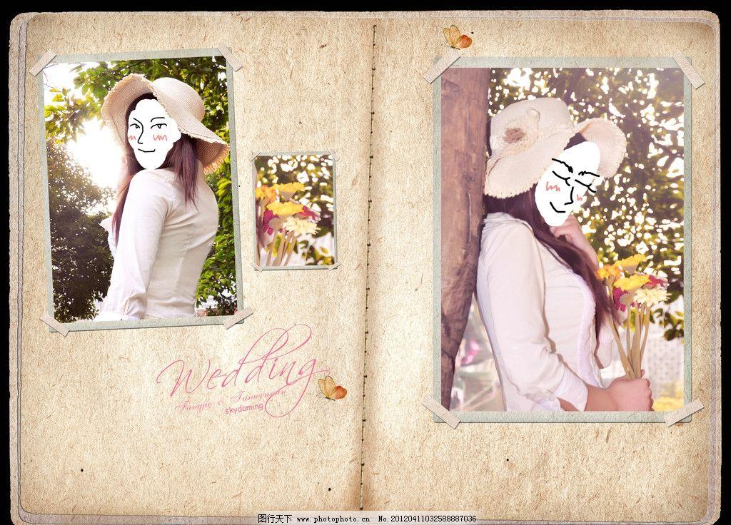 婚纱照 艺术照 相册模板 笔记本 手绘本 相框模板 摄影模板 源文件