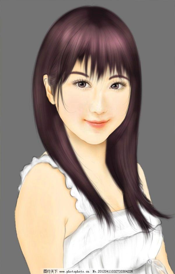 转手绘 女孩 转手绘女孩 仿手绘 美女 可爱的女孩 可爱美女 手绘人物