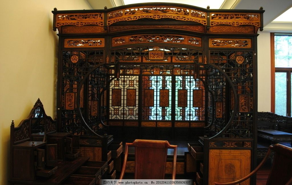 中式古典床榻 古代床 床榻 古代家具 中式 古典 实木 床 装饰摄影
