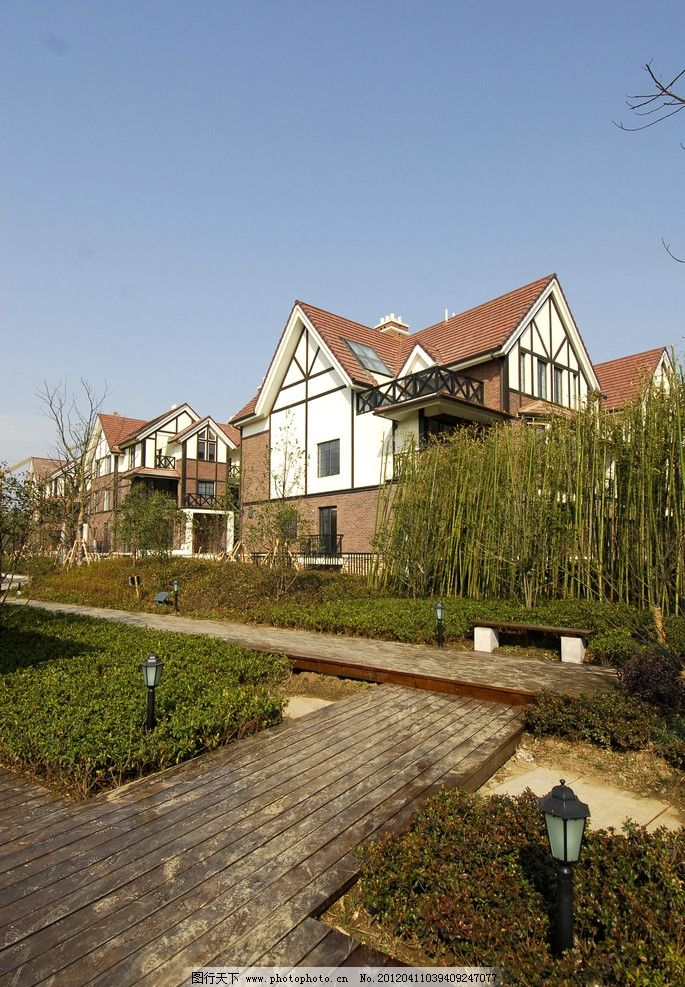 建筑外立面 英伦风 英伦建筑 小区绿化 别墅小区 小区景观 欧洲 欧式