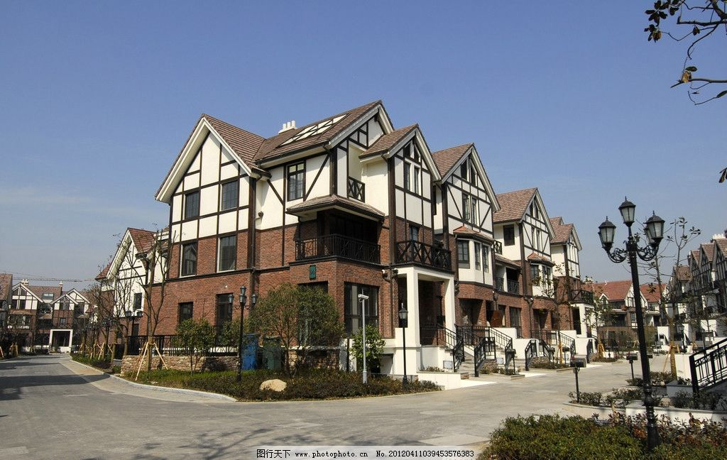 英式别墅小区图片