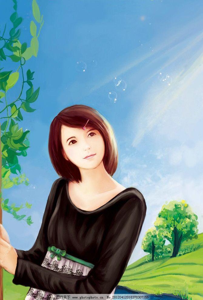 女孩 美女 少女 清纯 可爱 游戏 原画 cg 人物素材 动漫人物 动漫动画