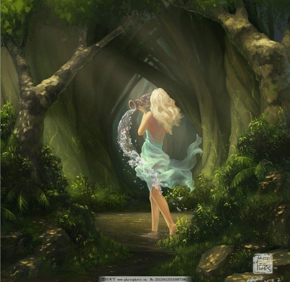 森林中的精灵图片