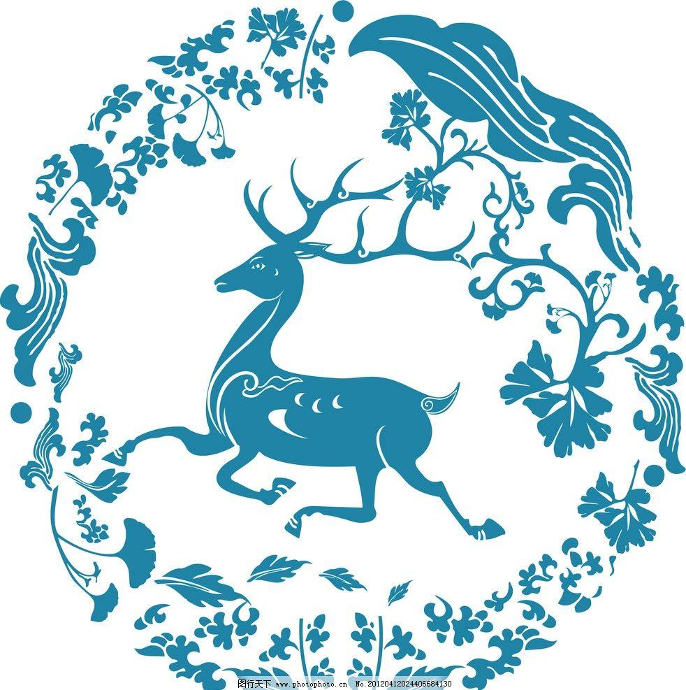 敦煌 神话 古典 中国风 古代 花草 野鹿 神鹿 民间故事 野生动物 生物