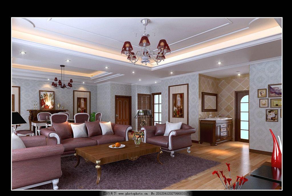 欧式客厅 潲发 电视 柜子 室内设计 环境设计 设计 72dpi jpg