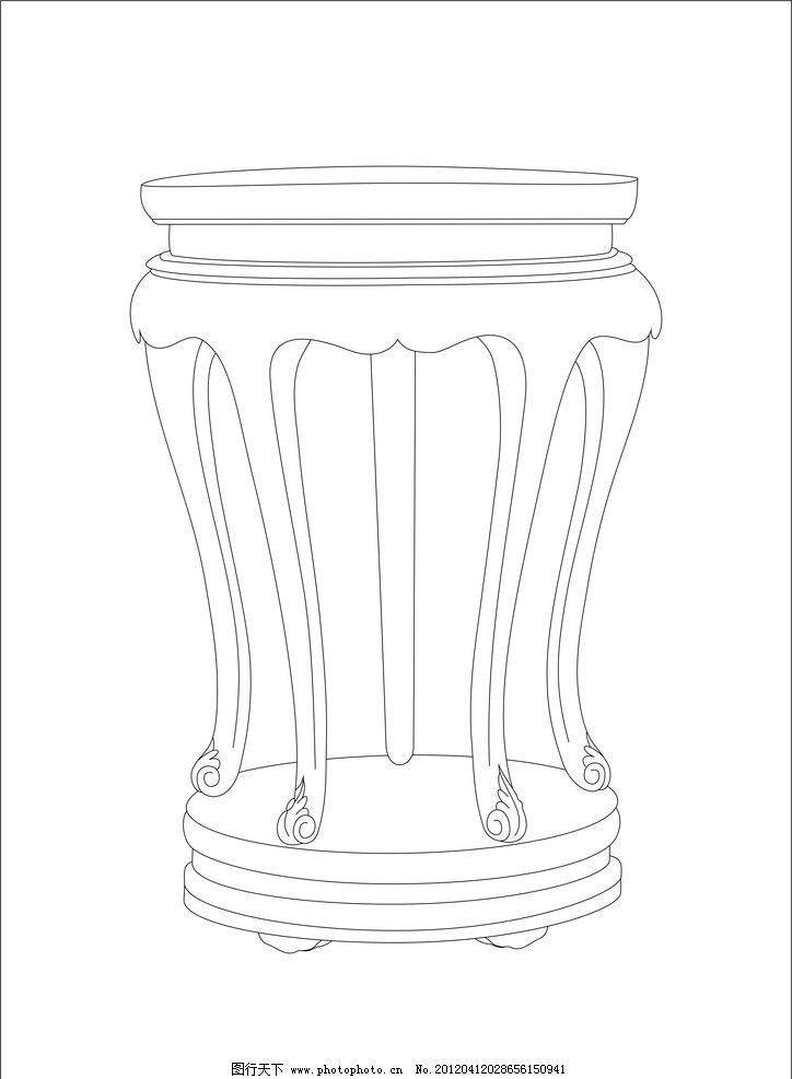 手绘建筑图片椅子