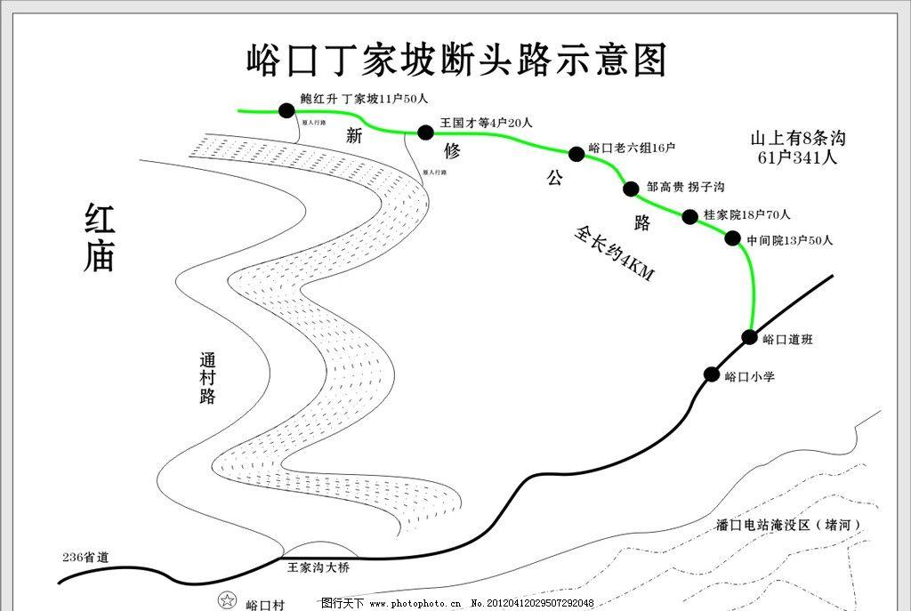 新修公路示意图 公路图的绘制 广告设计 矢量 cdr