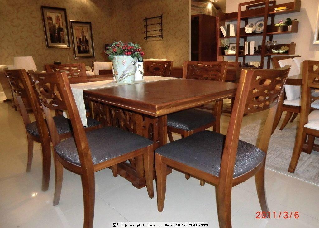 红木餐桌椅家具(非高清)图片