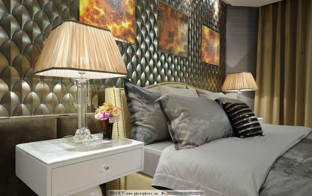 餐厅 吊灯 大理石 样板房 实景 台灯 床头柜 欧式 现代 家具 木地板