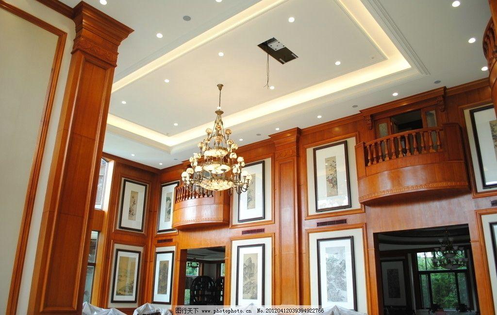 欧式豪华装潢 卧室 衣帽间 餐厅 中式家具 欧式线条 石膏线 吊灯