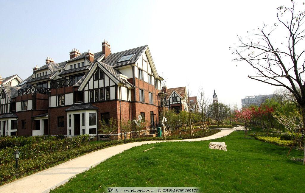 英式别墅 英伦风 欧式别墅 别墅小区 欧式别墅小区 小区绿化 小区景观