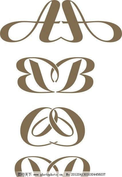 字母d变形设计图片展示