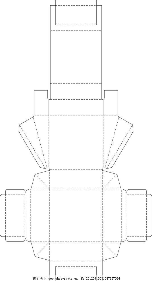 包装盒平面展开图 打包 盒子展开图 多个 矢量 盒形 异型盒