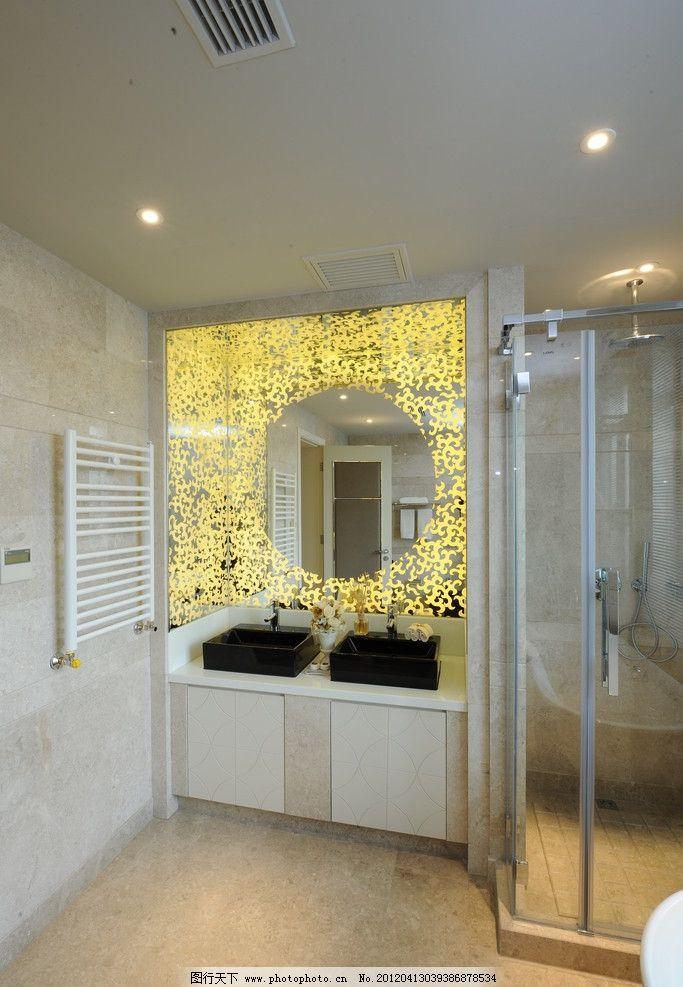 木地板 壁纸 雕花玻璃 石膏线 软转 灯槽 射灯 抱枕 柔美 精装样板房