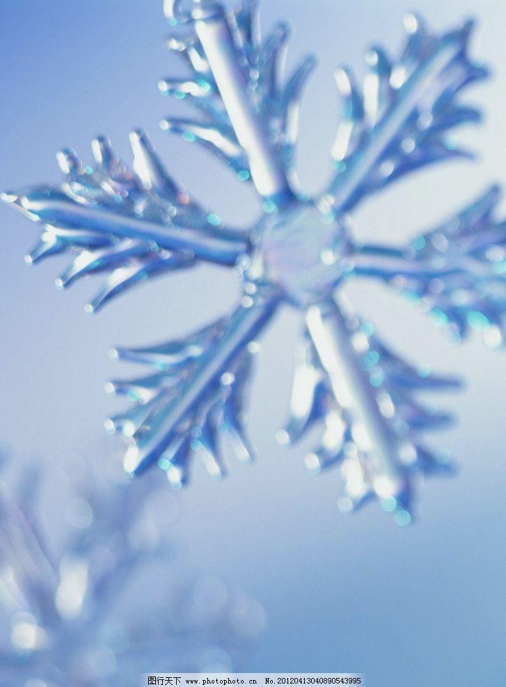 水晶雪花图片