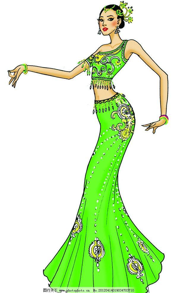 傣族傣族舞蹈图片女生长卷发图片