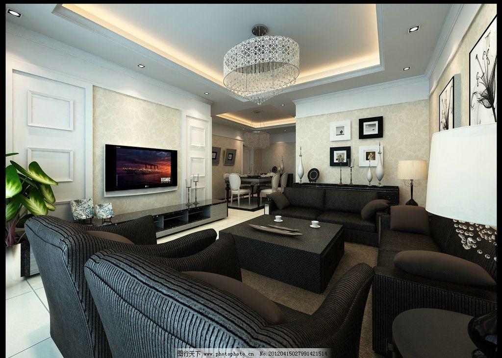 简欧客厅 简欧 室内 环艺      欧式 沙发 电视 桌子 室内设计 环境