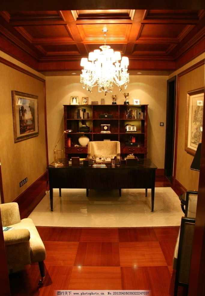 样板房 精装修 室内摄影 装修 装饰 星河湾 书房 书桌 欧式精品样板房