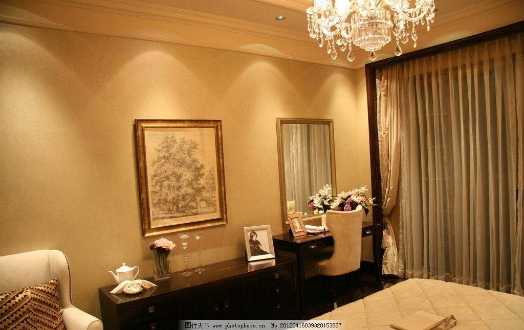 样板房 星河湾 卧室 吊灯 精装修 室内摄影 装饰 欧式 欧洲