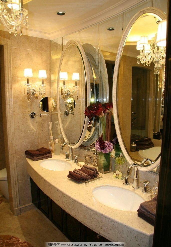 样板房 精装修 室内摄影 星河湾 台盆 镜子 欧式精品样板房摄影