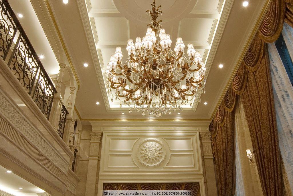 样板房 精装修 室内摄影 装饰 华府复式 天花 吊灯 欧式精品样板房图片