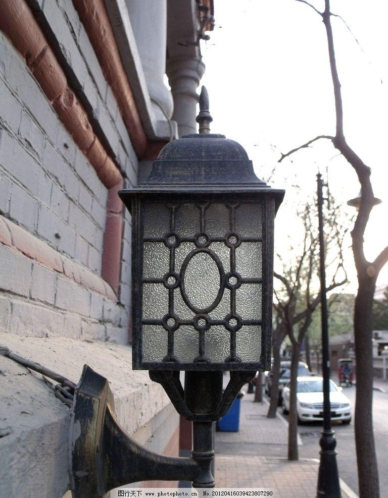 天津五大道之街灯 天津 五大道 街灯 欧式 古典 天津五大道 建筑摄影