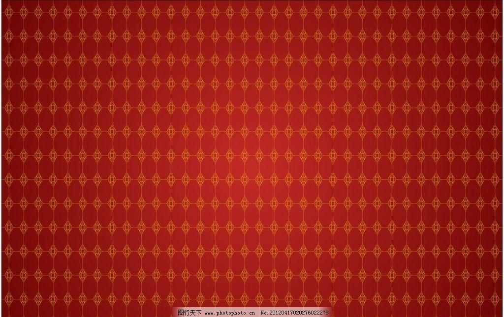红色黄金花纹背景 花纹 黄金色 红色背景 欧式 底纹背景 底纹边框