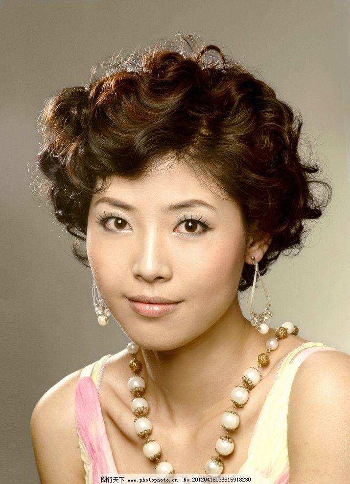 发型 时尚发型 女性女人 人物图库 摄影 72dpi jpg