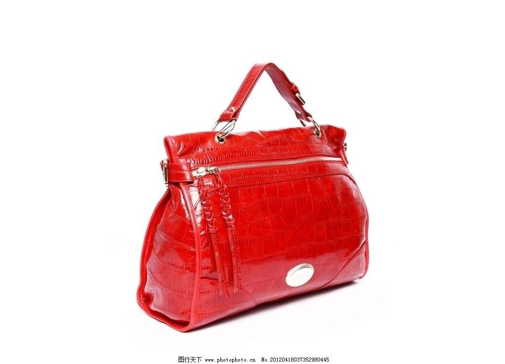 手袋摄影照片 手袋 时尚女包 动物纹包包 红色 手提袋 高档女包 家居
