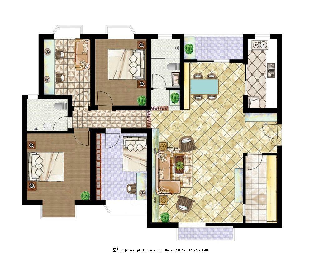 室内平面图        平面图 结构图 户型图 户型图素材 沙发 床 餐厅