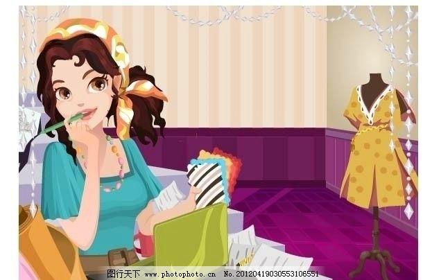 卡通美女 韩国卡通 女孩