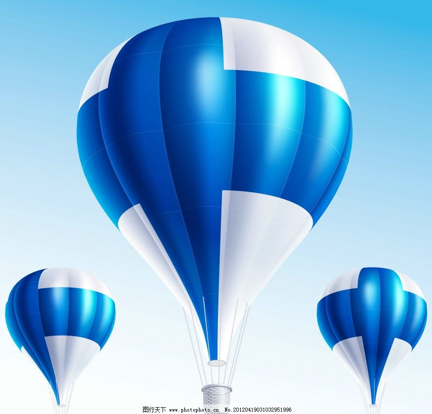 热气球 国旗 标志 标识 飞行 背景 底纹 矢量 交通工具 现代科技 eps