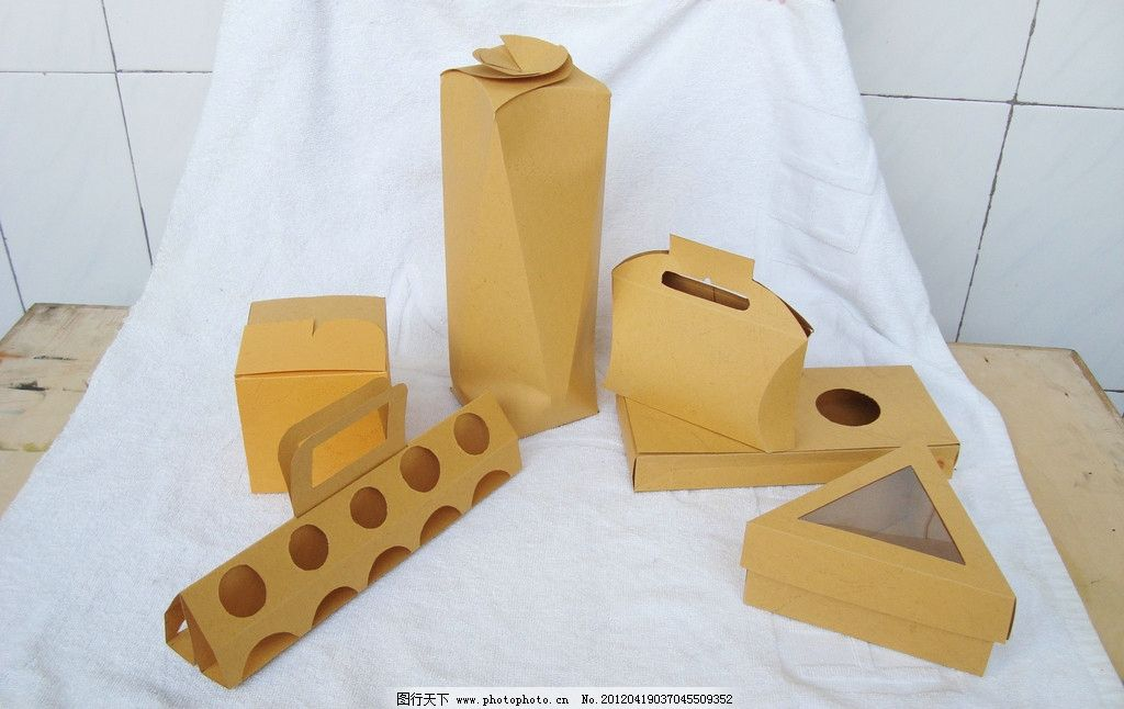 纸盒盒型创意设计 异型盒 包装 生活素材 摄影