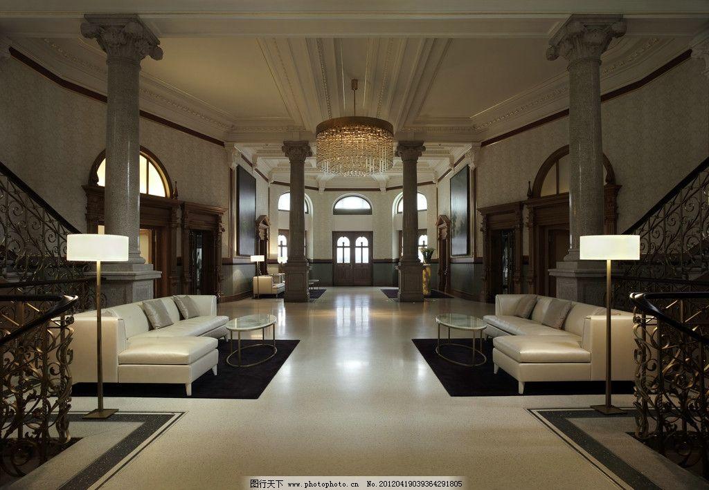 高档豪华酒店内景装修设计布局 大厅 楼梯 酒店内景装修布局 室内摄影
