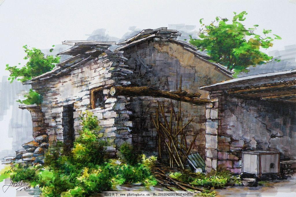 手绘景观 景观手绘 自然景观 景观 园林景观 景观设计 建筑景观 景观
