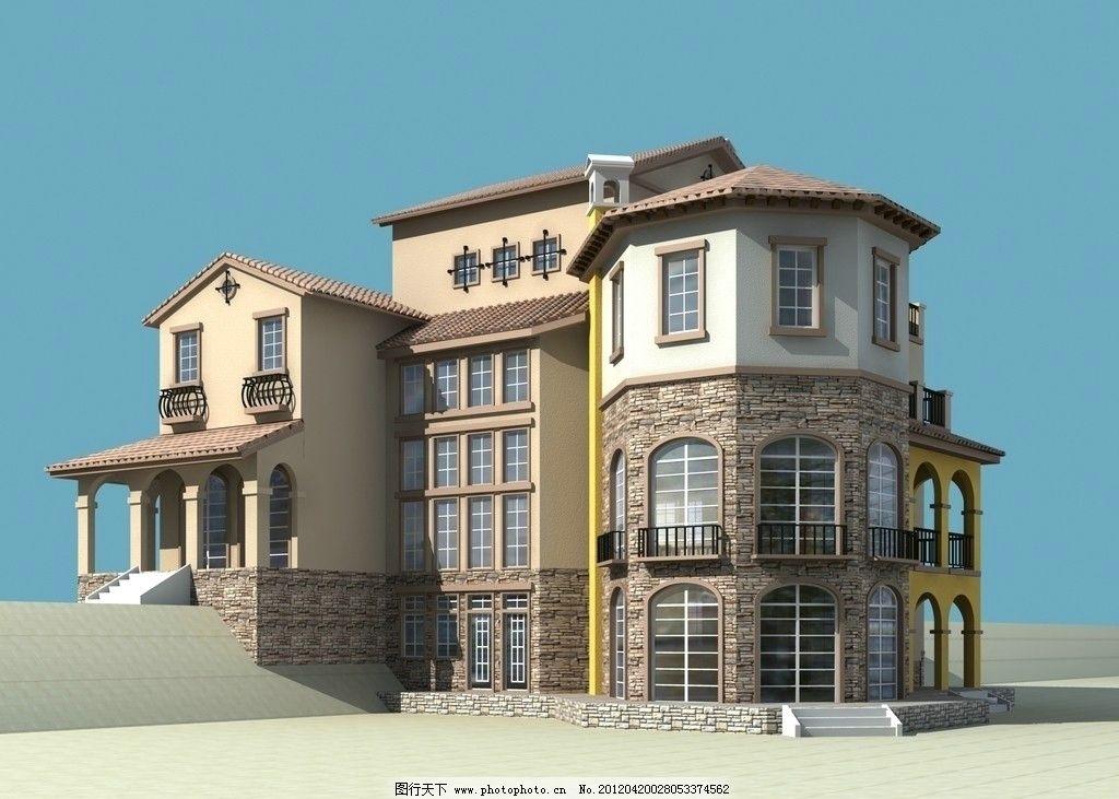 别墅 建筑效果图 小区效果图 室外效果图 建筑表现