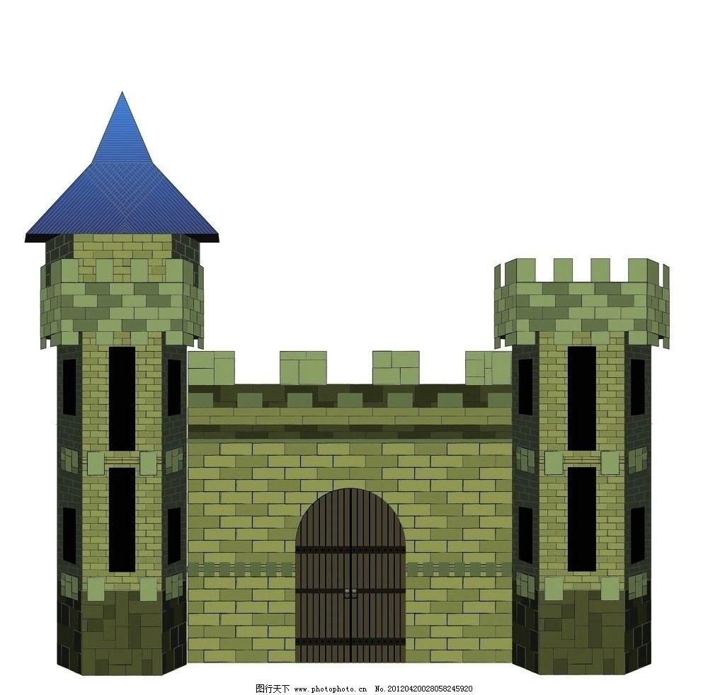 古典城堡 城堡 城墙 箭塔 古典 西欧 矢量 ai 传统建筑 建筑家居
