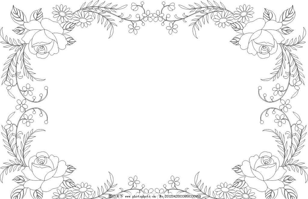 玫瑰花 边框 植物 矢量素材 其他矢量 矢量 cdr