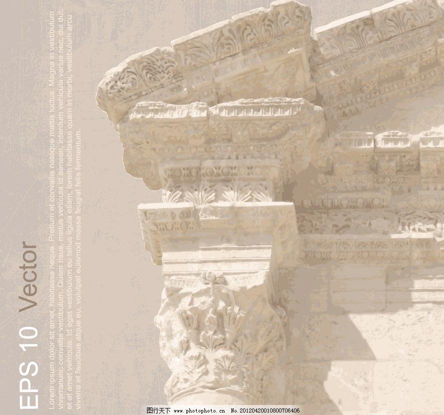欧式古典建筑背景图片