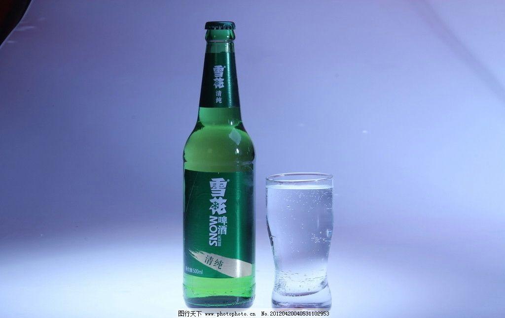 啤酒瓶摄影 酒杯
