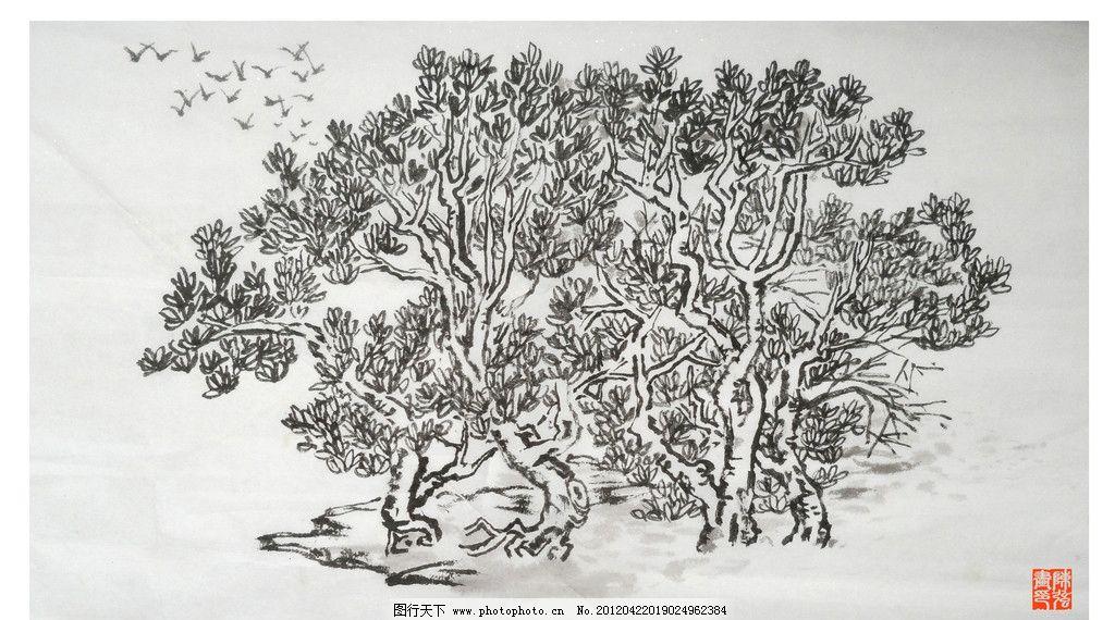 简笔画树林的画法步骤图