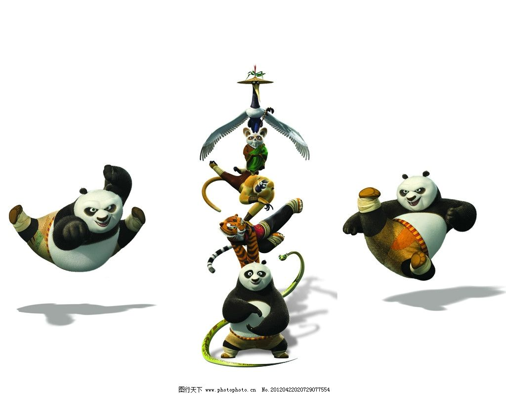 功夫熊猫 老鼠 熊猫 蛇 老虎 移门 移门图案 底纹边框 设计 72dpi jpg