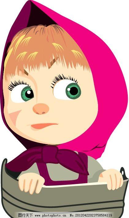 女孩子 小女孩 可爱 生气 小红帽 美女 可爱女孩 韩国卡通 妇女女性