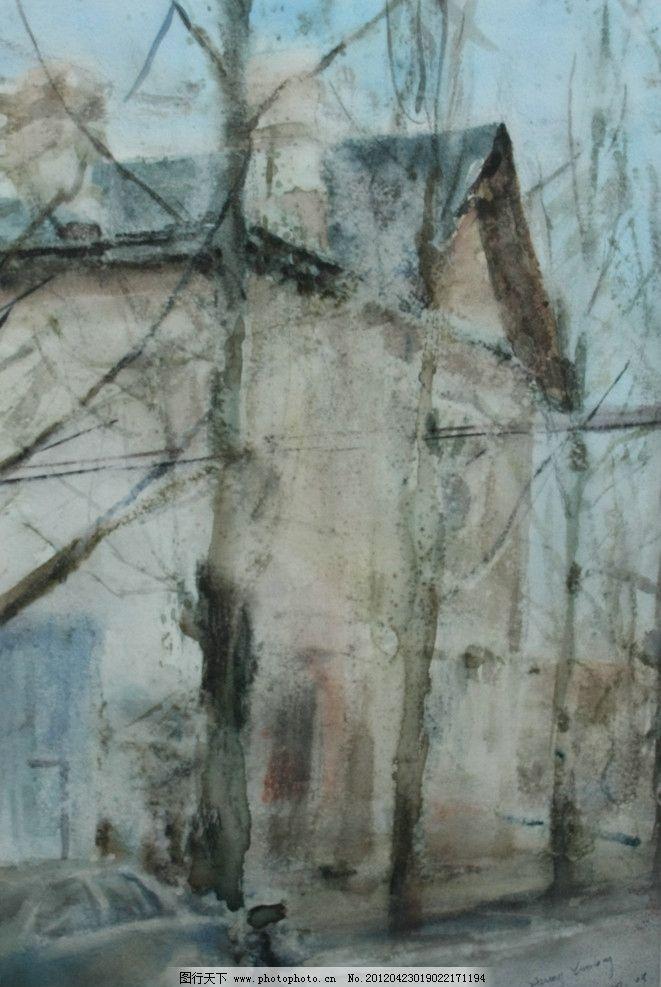 水彩风景 风景水彩 水彩 水彩画 高考 高考水彩 写生 绘画 艺术 设计 水彩作品 大师作品 当代艺术家作品 挂画 名画 世界名画 西方水彩 东方水彩 风景画 风景 景色 树木 植物 房子 木屋 绘画书法 文化艺术 72DPI JPG