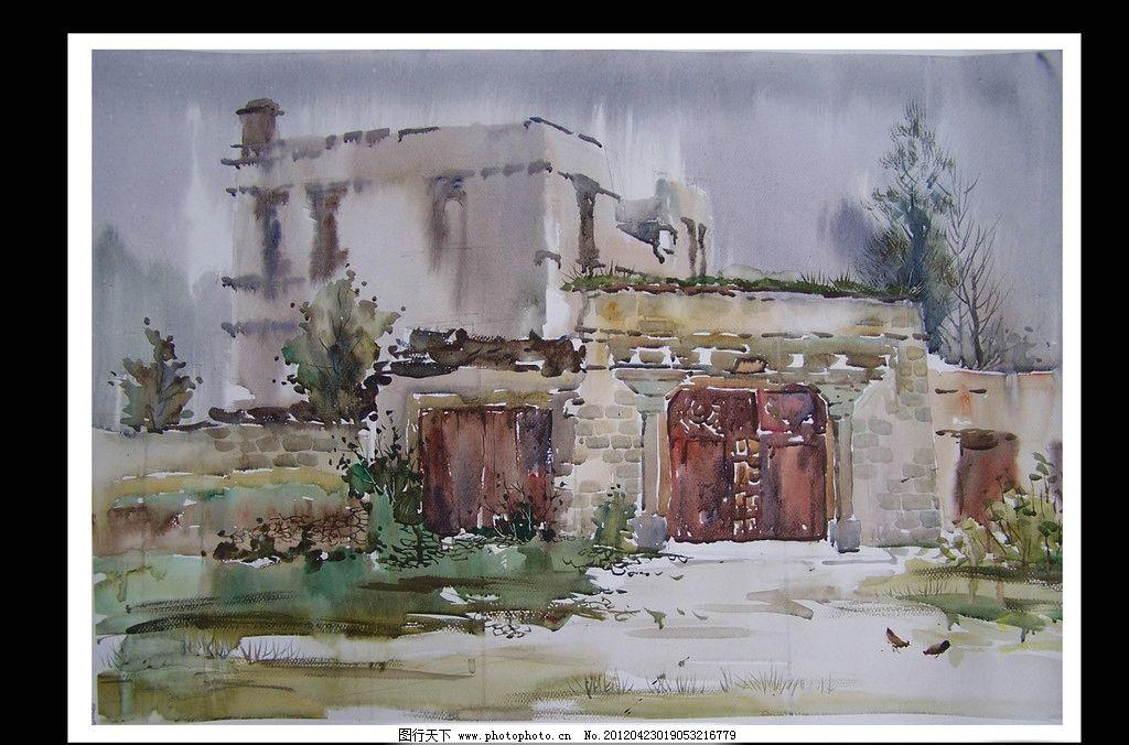 水彩 水彩画 高考 高考水彩 写生 绘画 艺术 设计 水彩作品 风景画