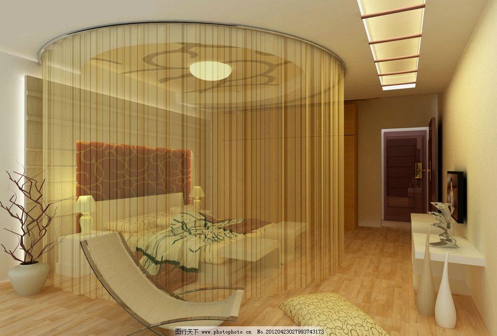 欧美卧室      秃顶 床 装潢设计 室内设计 环境设计 设计 72dpi jpg