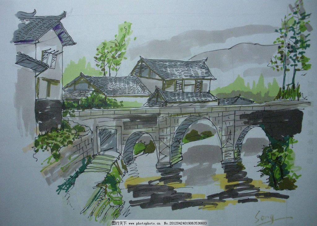 绘画书法  手绘景观 景观手绘 景观 景观设计 建筑景观 景观效果图