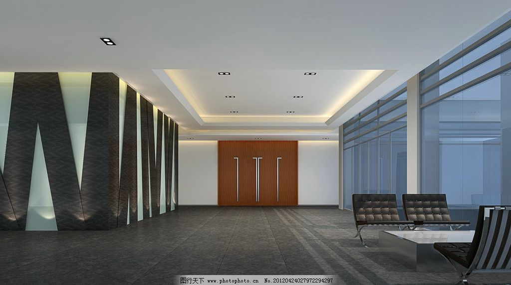 门厅效果图 办公效果图 大厅效果图 家具设计 办公家具 现代家具