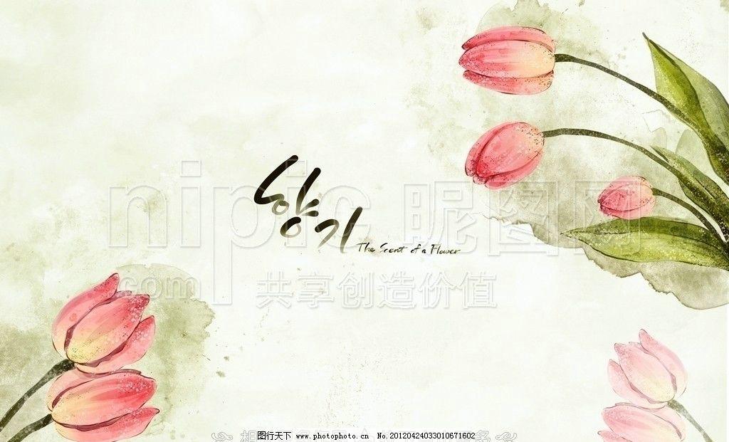 郁金香水彩画 郁金香插画 郁金香 手绘花卉 手绘花朵 手绘鲜花 花卉